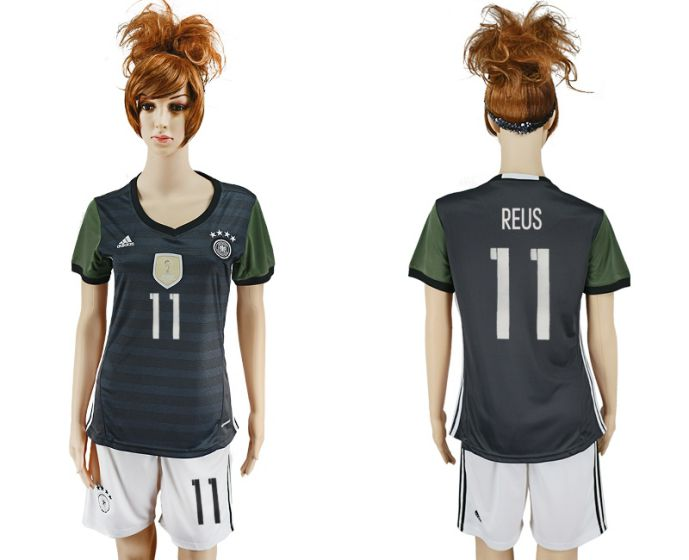 National 2017-2018 Germany away women 11 soccer jersey