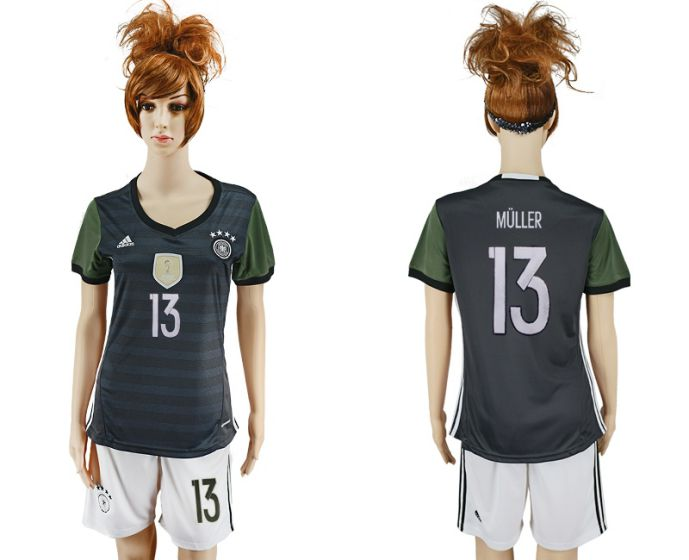 National 2017-2018 Germany away women 13 soccer jersey