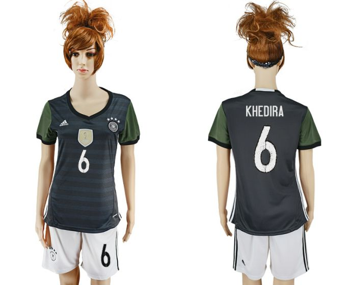 National 2017-2018 Germany away women 6 soccer jersey