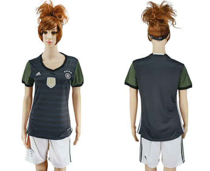 National 2017-2018 Germany away women blank soccer jersey