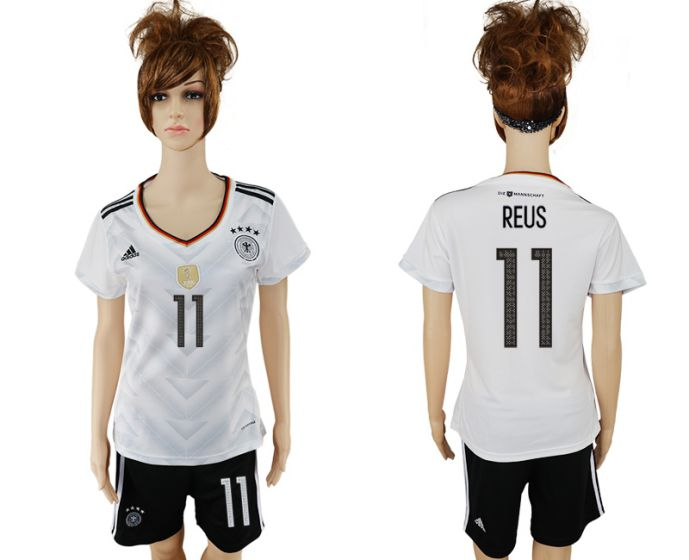National 2017-2018 Germany home women 11 soccer jersey