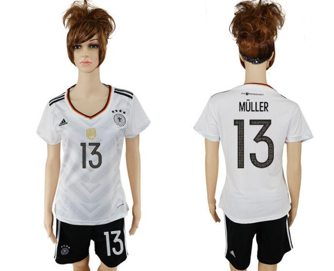 National 2017-2018 Germany home women 13 soccer jersey