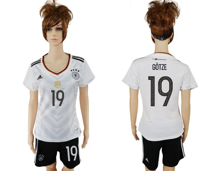 National 2017-2018 Germany home women 19 soccer jersey