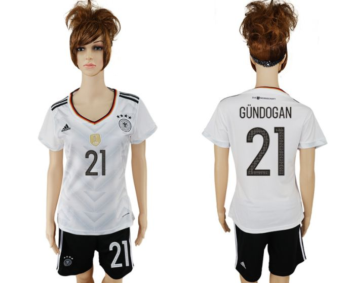 National 2017-2018 Germany home women 21 soccer jersey