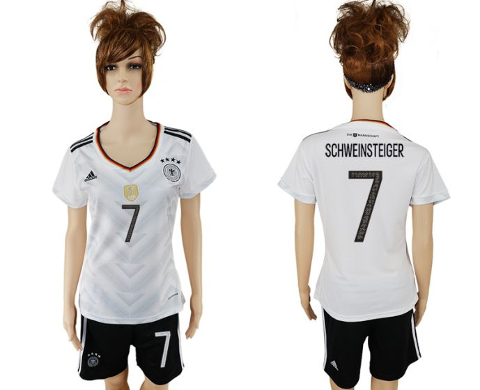 National 2017-2018 Germany home women 7 soccer jersey