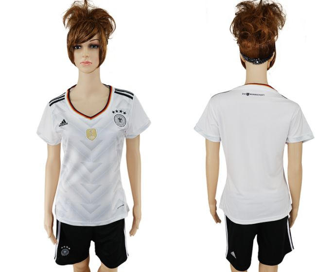 National 2017-2018 Germany home women blank soccer jersey