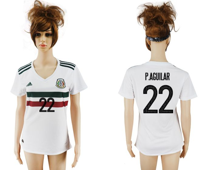 National 2017-2018 Mexico away aaa verion women 22 soccer jersey