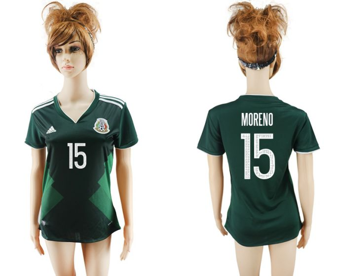 National 2017-2018 Mexico home aaa verion women 15 soccer jersey