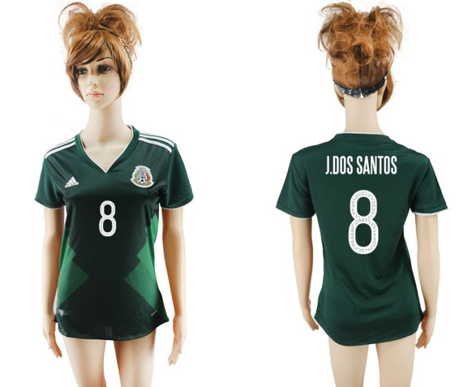 National 2017-2018 Mexico home aaa verion women 8 soccer jersey