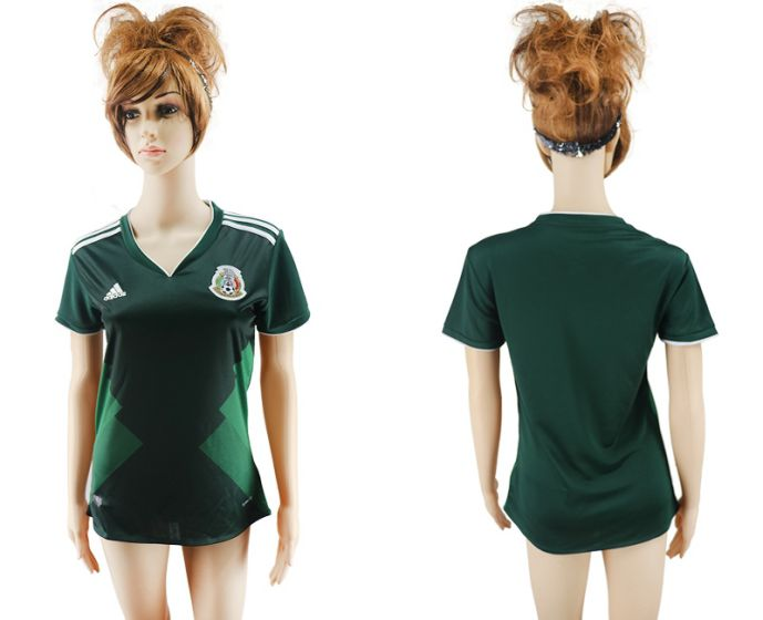 National 2017-2018 Mexico home aaa verion women soccer jersey