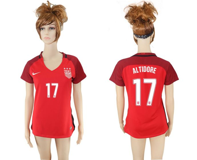 National 2017-2018 United State away aaa women 17 soccer jersey