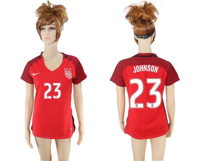 National 2017-2018 United State away aaa women 23 soccer jersey