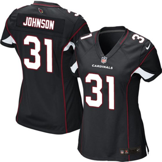 Women Arizona Cardinals 31 David Johnson Nike Black Game NFL Jersey