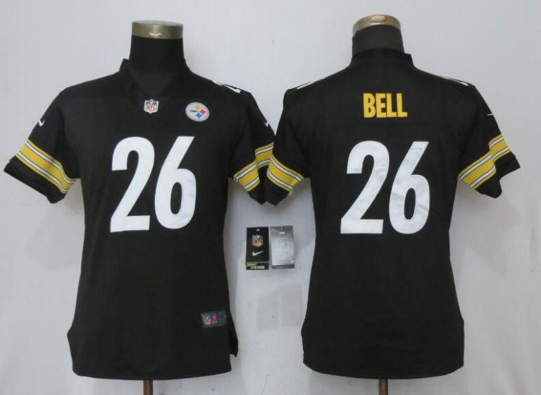 Women Nike NFL Pittsburgh Steelers 26 Bell Black 2017 Vapor Untouchable Elite Jersey