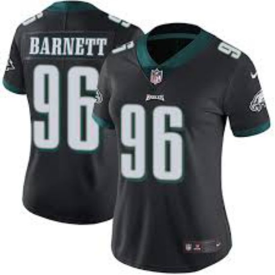 Women Philadelphia Eagles 96 Derek Barnett Black Nike NFL Jerseys