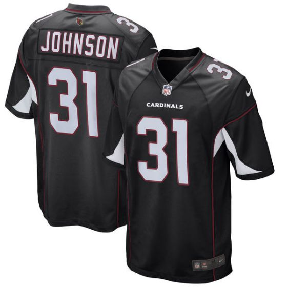 Youth Arizona Cardinals 31 David Johnson Nike Black Game NFL Jersey