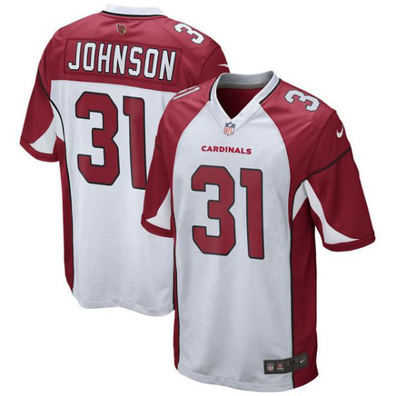Youth Arizona Cardinals 31 David Johnson Nike White Game NFL Jersey