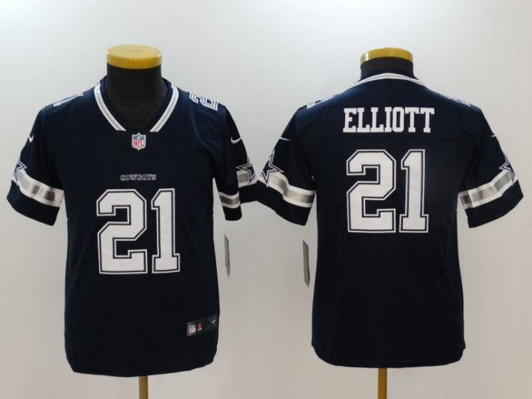 Youth Dallas Cowboys 21 Elliott Blue Nike Vapor Untouchable Limited NFL Jerseys