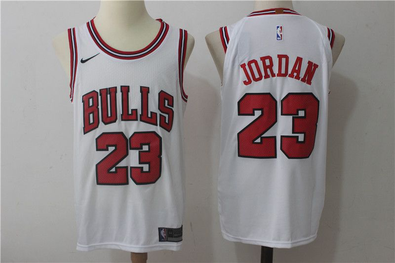 2017 Men Chicago Bulls 23 Jordan white nike NBA Jerseys