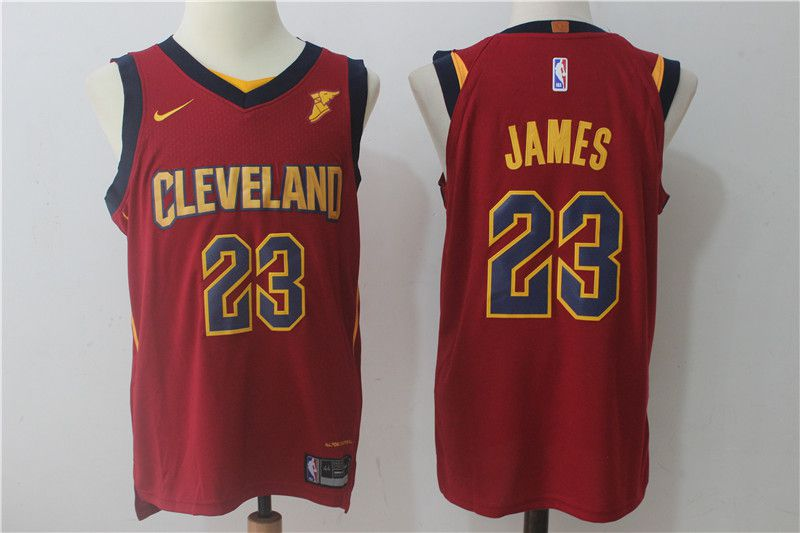 2017 Men Cleveland Cavaliers 23 Lebron James red Nike NBA Jerseys