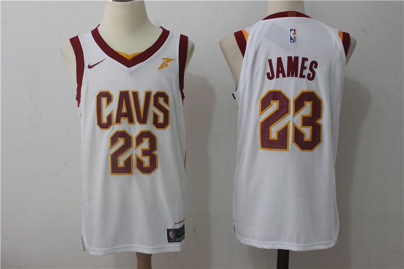 2017 Men Cleveland Cavaliers 23 Lebron James white Nike NBA Jerseys