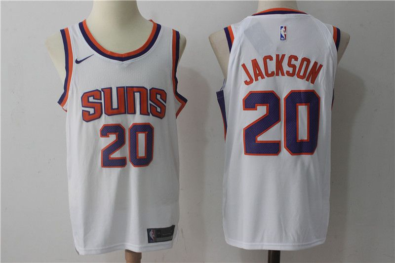 2017 Men Phoenix Suns 20 Jackson Nike White NBA Jerseys