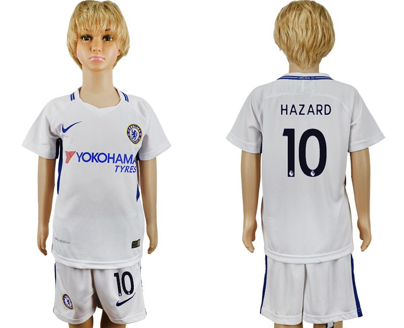 2017-2018 club Chelsea FC away 10 grey kids soccer jersey