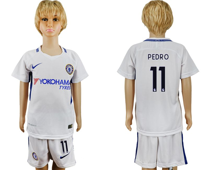 2017-2018 club Chelsea FC away 11 grey kids soccer jersey