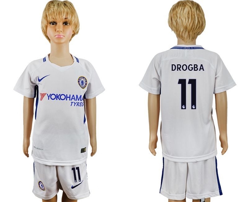 2017-2018 club Chelsea FC away 11 grey kids soccer jersey1