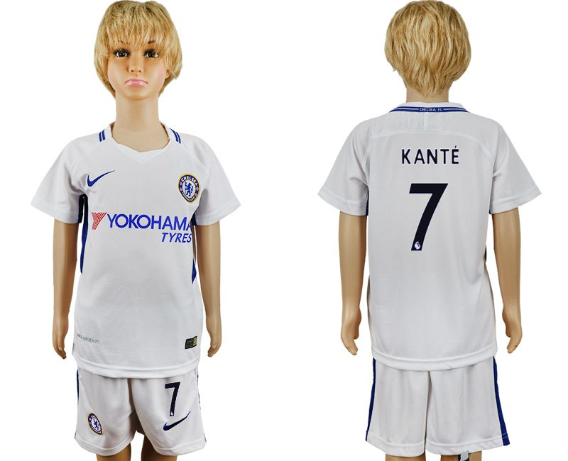 2017-2018 club Chelsea FC away 7 grey kids soccer jersey