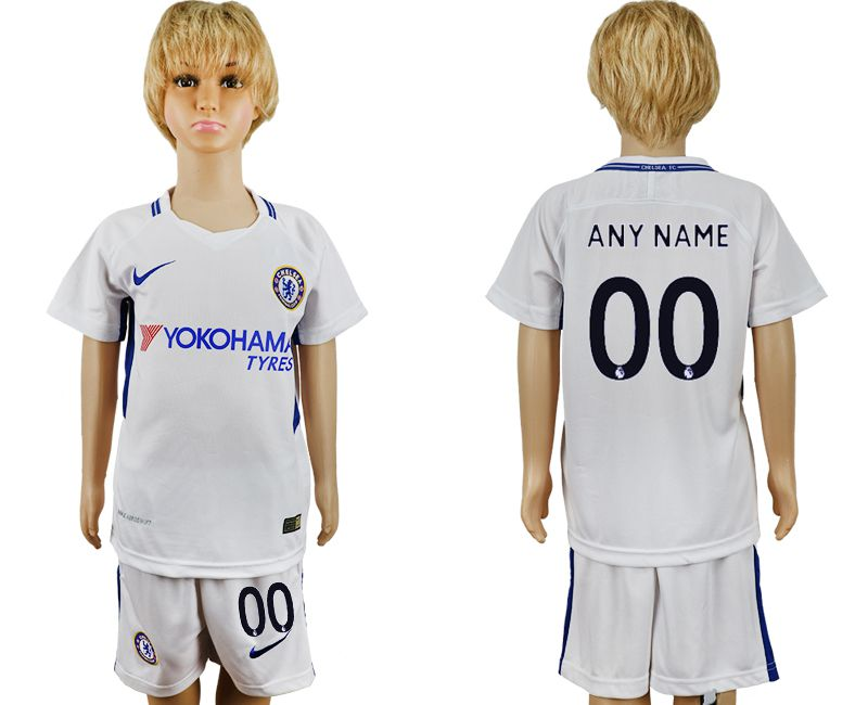 2017-2018 club Chelsea FC away customized grey kids soccer jersey