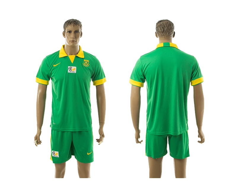 Men 2016-2017 national South Africa away green soccer jersey