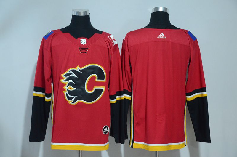 Men 2017 NHL Calgary Flames Blank Red Adidas jersey