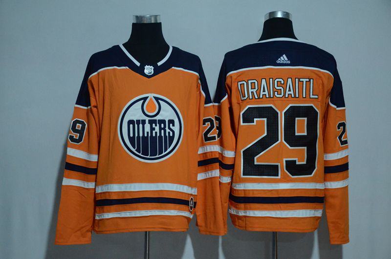 Men 2017 NHL Edmonton Oilers 29 Draisaitl orange Adidas jersey