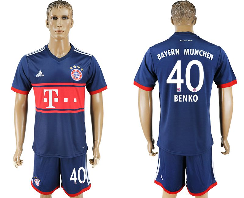 Men 2017-2018 Club Bayern Munich away 40 blue soccer jersey
