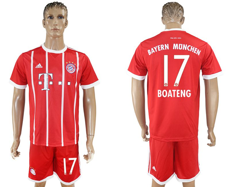 Men 2017-2018 Club Bayern Munich home 17 red soccer jersey
