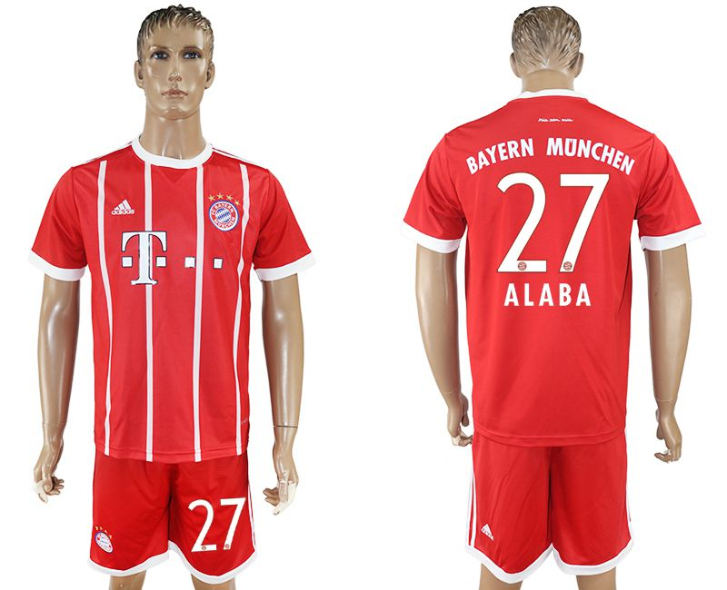 Men 2017-2018 Club Bayern Munich home 27 red soccer jersey