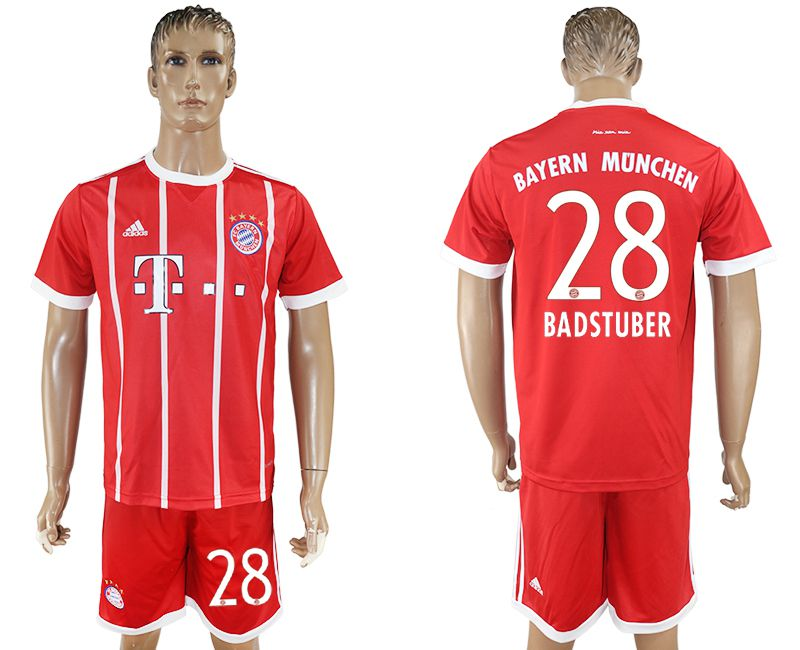 Men 2017-2018 Club Bayern Munich home 28 red soccer jersey