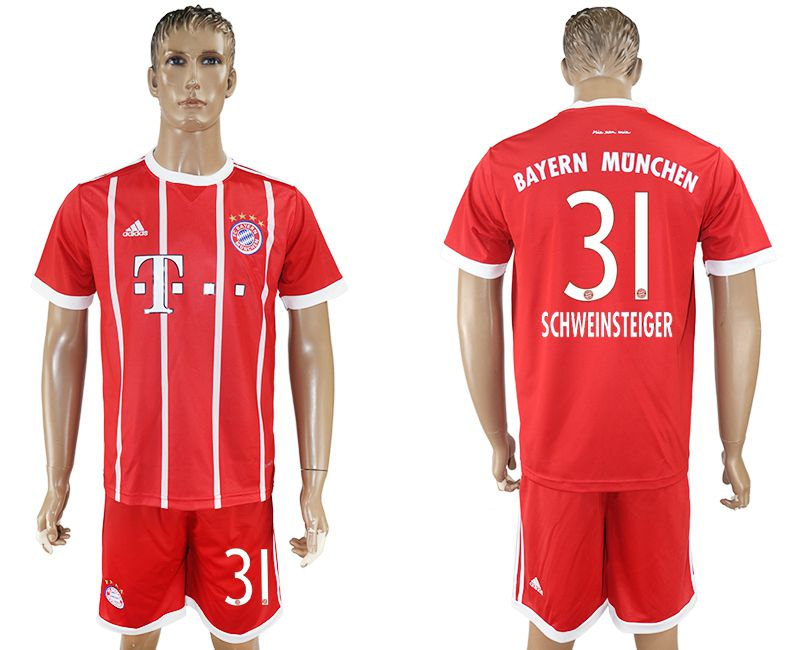 Men 2017-2018 Club Bayern Munich home 31 red soccer jersey