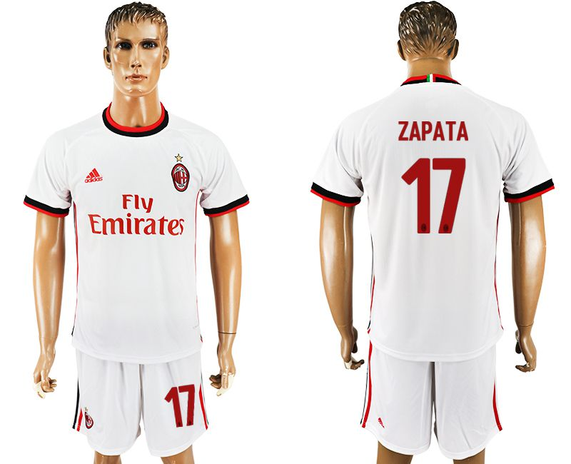 Men 2017-2018 club AC milan away 17 white soccer jersey