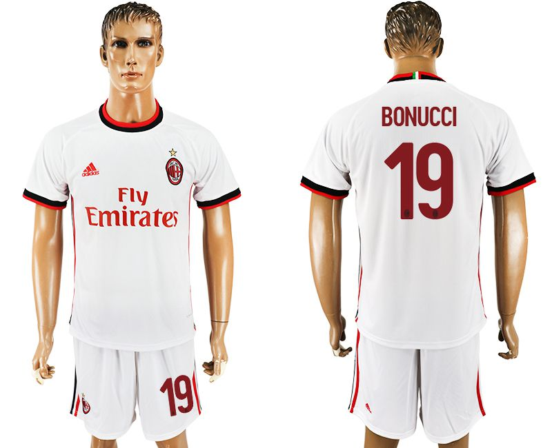 Men 2017-2018 club AC milan away 19 white soccer jersey