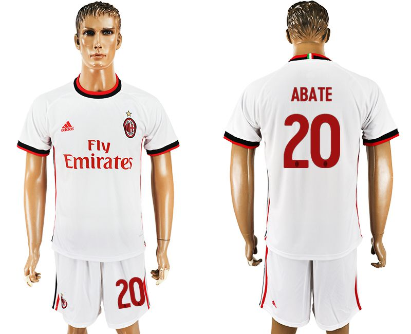 Men 2017-2018 club AC milan away 20 white soccer jersey