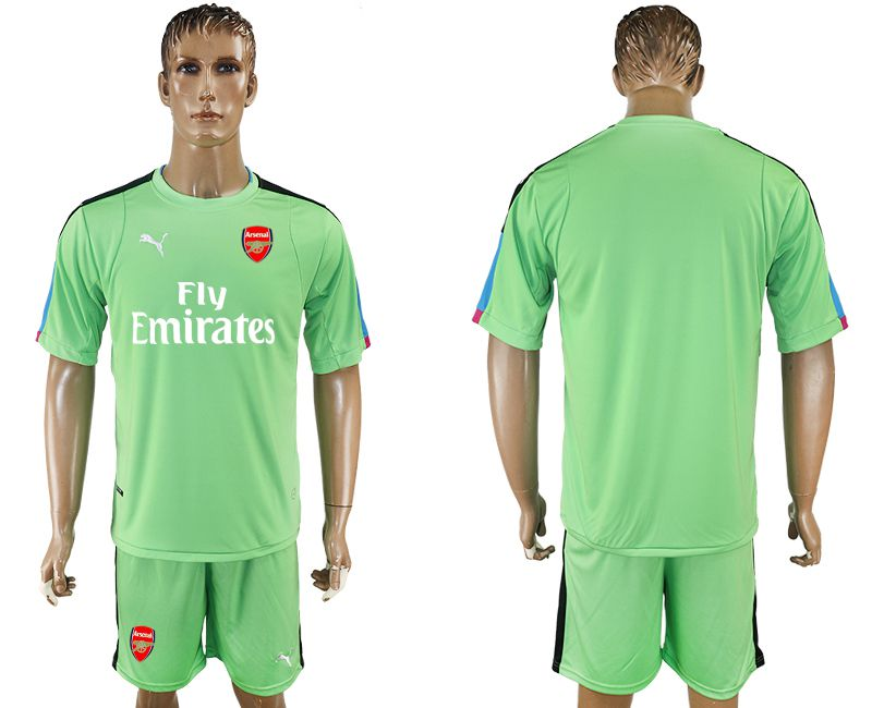 Men 2017-2018 club Arsenal goalkeeper blank green soccer jersey