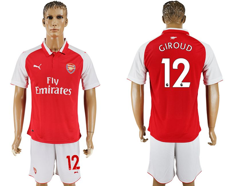 Hommes 2017-2018 club Arsenal domicile 12 maillot de football rouge
