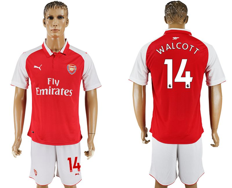 Men 2017-2018 club Arsenal home 14 red soccer jersey1