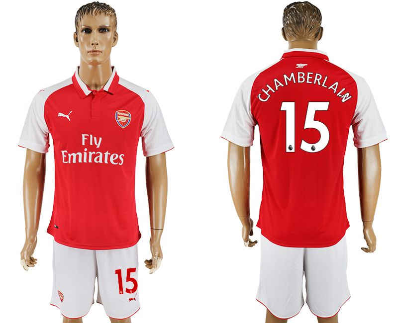 Men 2017-2018 club Arsenal home 15 red soccer jersey