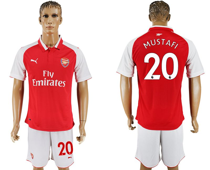 Men 2017-2018 club Arsenal home 20 red soccer jersey