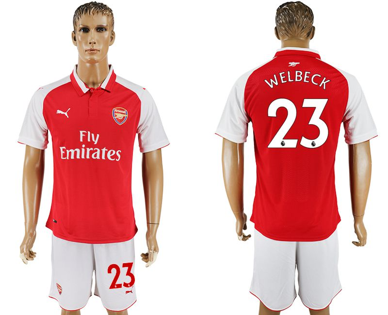 Men 2017-2018 club Arsenal home 23 red soccer jersey