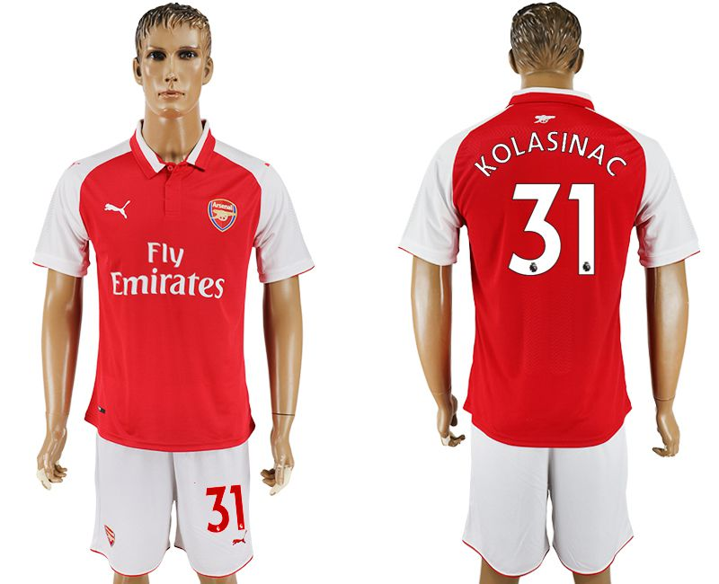 Men 2017-2018 club Arsenal home 31 red soccer jersey