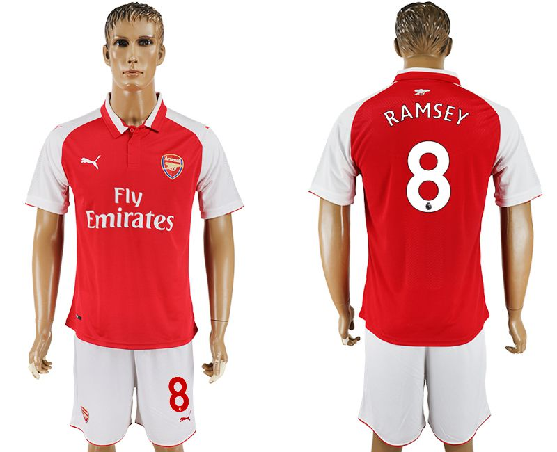 Men 2017-2018 club Arsenal home 8 red soccer jersey